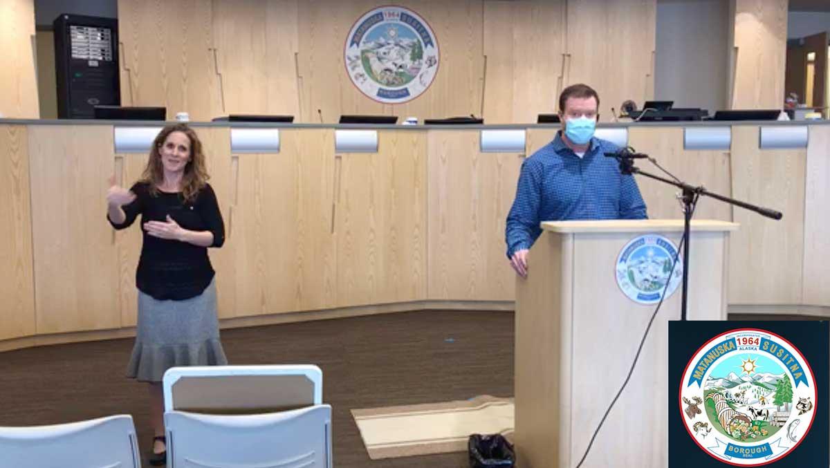 Matanuska-Susitna Borough Press Conference Discussing COVID-19