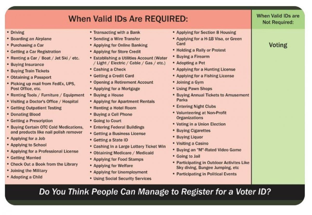 IDs for Voting?